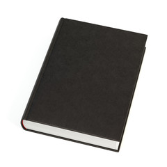 Black book on white background