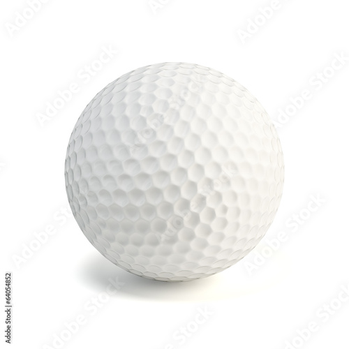Shiny glossy golf ball