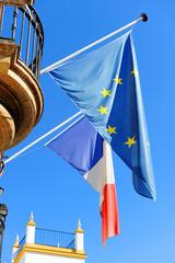 Banderas de Europa y Francia