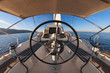 Inside the cockpit of sailing yacht - 64055489