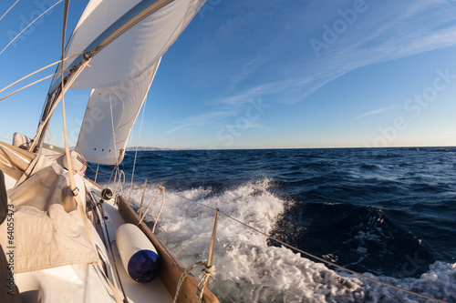 Leinwandbild Motiv Sailing boat in the sea
