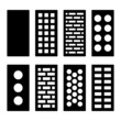 Different Type Bricks Icons Set. Vector