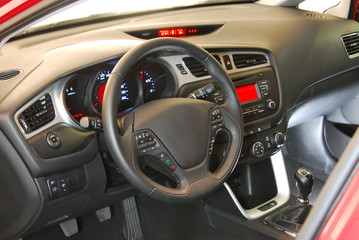 car interior, steering wheel