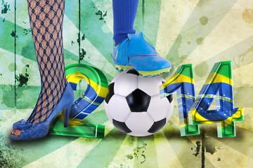 brasilianische Fussballfrau