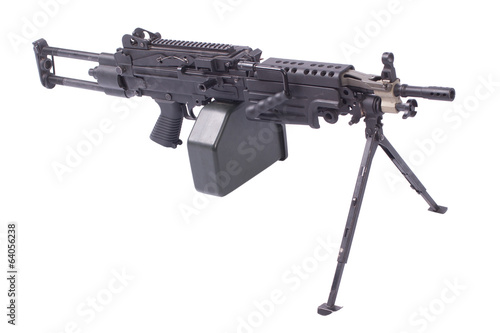 M249 machine gun isolated on white