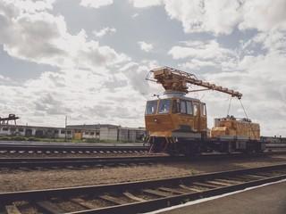 maintenance train on the railway