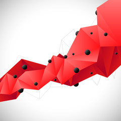Abstract red polygonal background