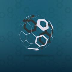 Globe Design Vector Illustration - Hexagonal Surface Pattern