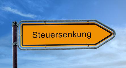 Strassenschild 8 - Steuersenkung