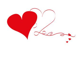 love - zwei herzen
