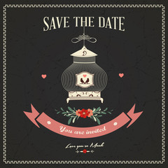 Save The Date, Wedding Invitation Card