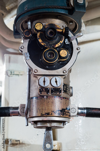 Periscope in old russian submarine