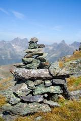 Steinmännchen in den Alpen