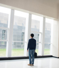 Man standing in the hall