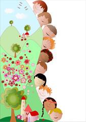 bambini in primavera