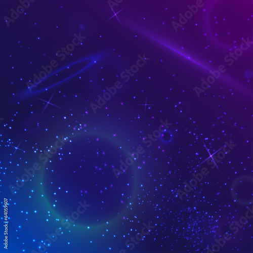 Vector space galaxy background