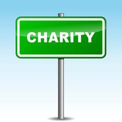 Vector charity signpost