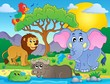 Cute African animals theme image 9