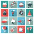Obrazy na płótnie, fototapety, zdjęcia, fotoobrazy drukowane : Party icons