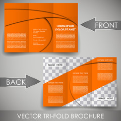 Business three fold flyer template, corporate brochure