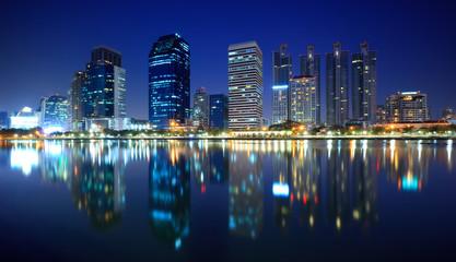 Bangkok city at night, Bangkok,Thailand