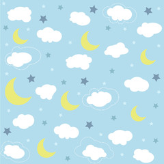 Seamless baby pattern, wallpaper
