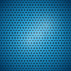 Abstract Blue Vector Dotted Steel - Plastic Background