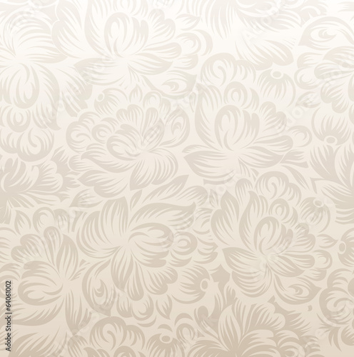 Fancy golden floral background