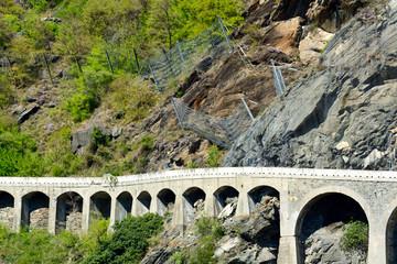 Strada statale di montagna