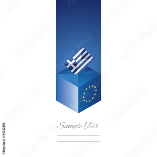 EU elections in Greece vector