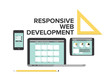 Responsive design web development flat illustration
