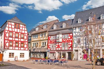 Mittelalterliches Fachwerk am Marktplatz von Bad Camberg