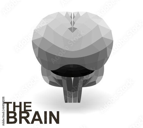 Modern creative concept of the human brain. Vector.