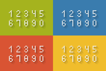 Set of flat pixel numbers