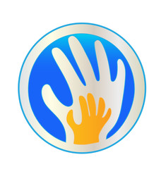 Hands protection logo vector