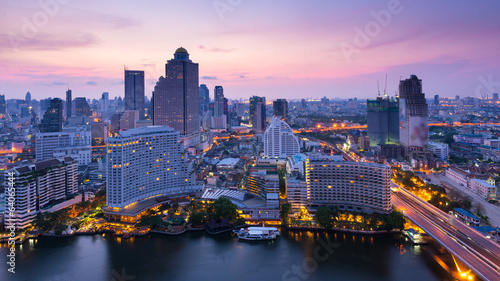 canvas print picture Bangkok sunrise