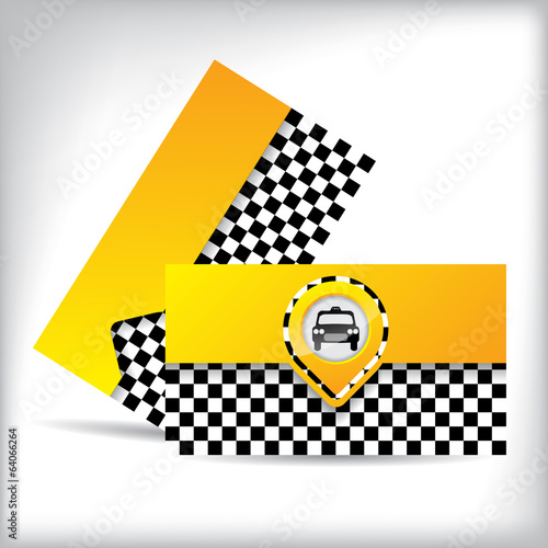 Business card design with car symbol