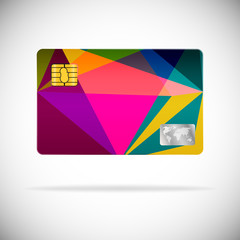Plastic card abstract design
