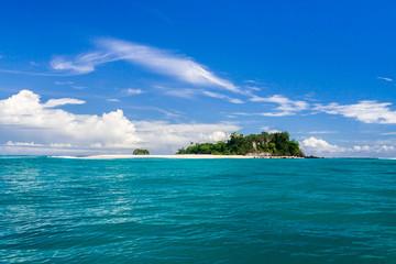 Island and sandbank