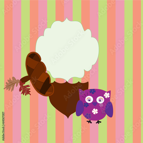 background children owl and acorn