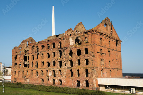 Ruined during the World War 2 red brick mill