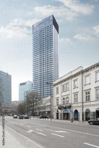 Naklejka Cosmopolitan building in Warsaw