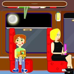 Viaje nocturno en tren