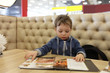 Child with menu
