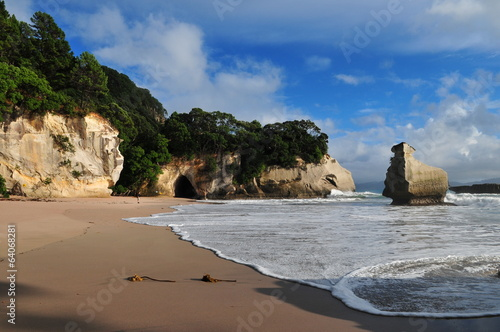 Plage de Cathedral Cove.