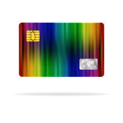 Colorful plastic card abstract design