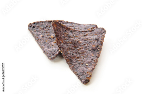 Blue corn tortilla chips