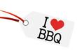 "Anhänger mit Text "" I LOVE BBQ """