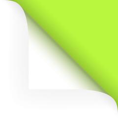 Papier - Ecke oben grün