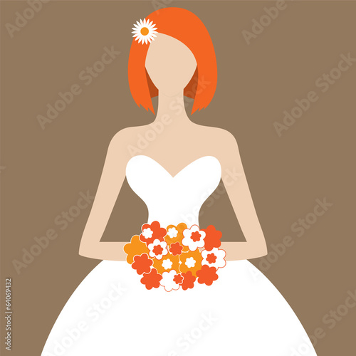 Red-haired bride